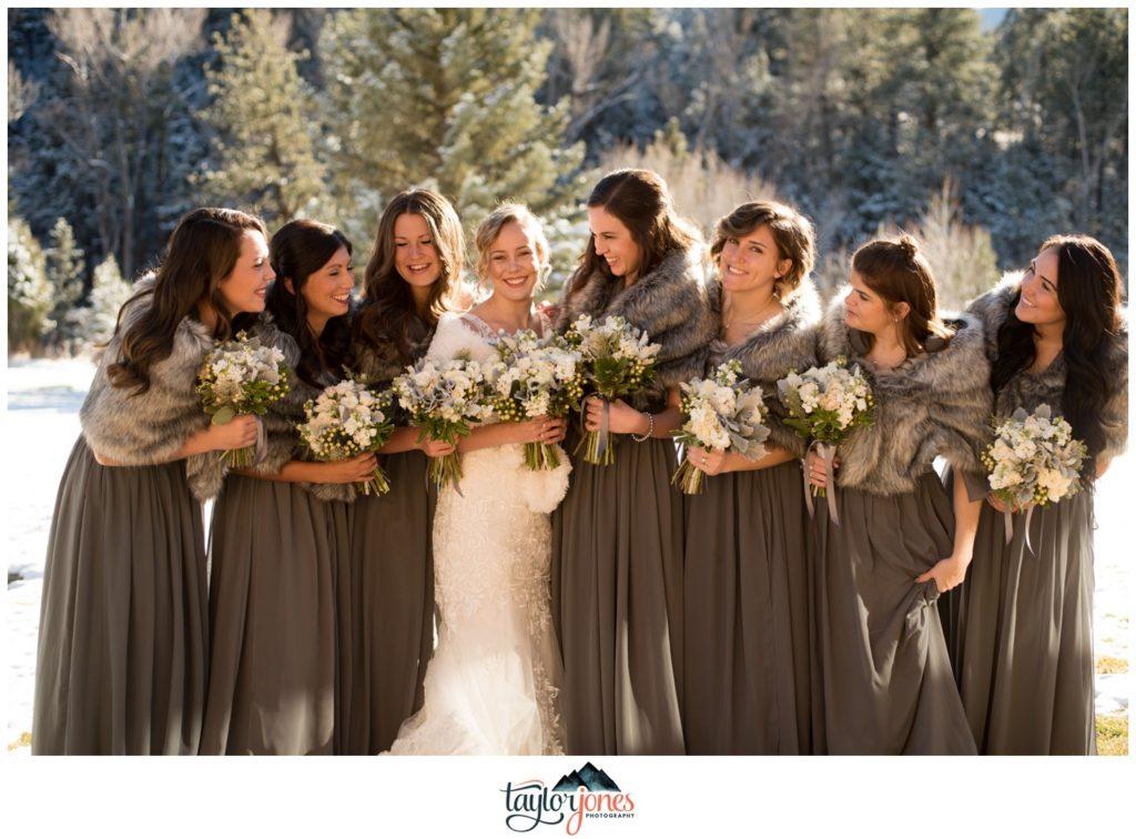 Mount Princeton Hot springs wedding bridal party