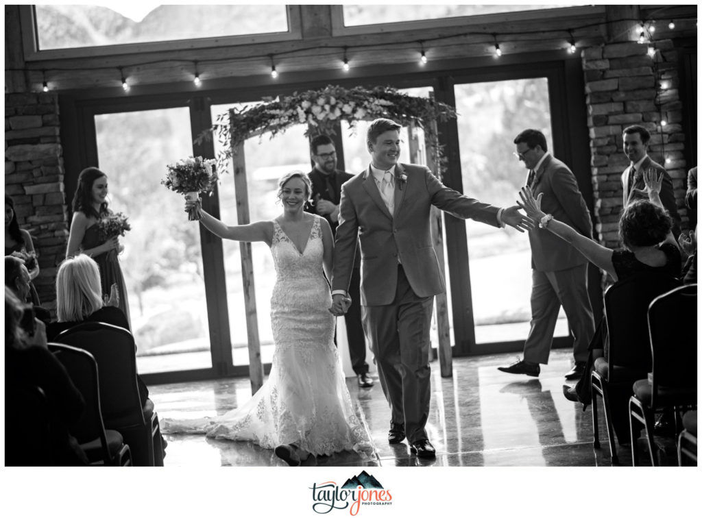 Mount Princeton Hot Springs winter wedding bride and groom wedding ceremony
