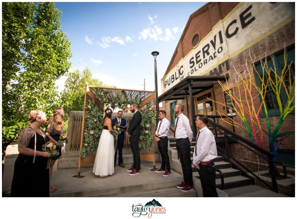 Salida Steam Plant wedding ceremony Revfem