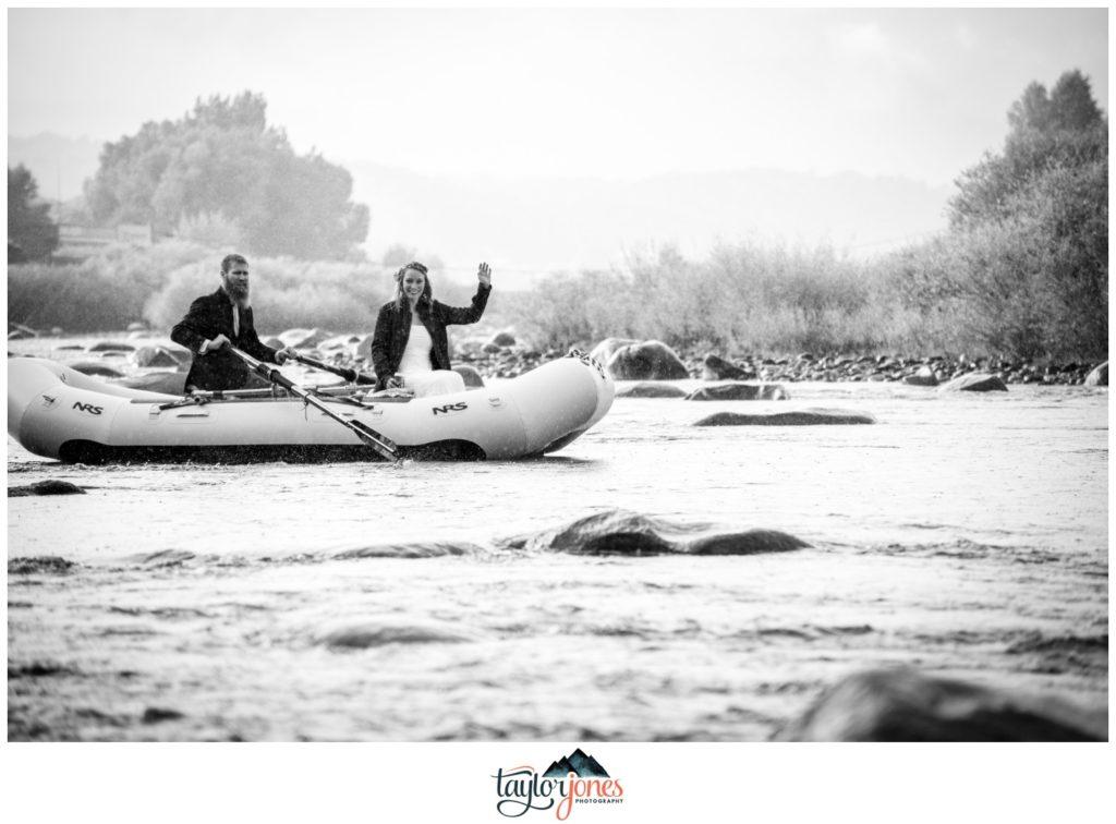 Salida Colorado wedding photographer on the river rafting