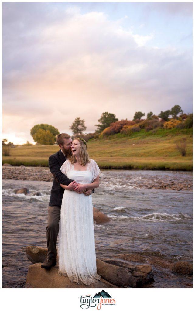Salida Colorado wedding photographer on the river Sarah and Vance