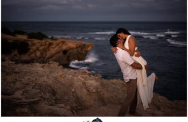 Kauai wedding and engagement photographer at Shipwreck beach