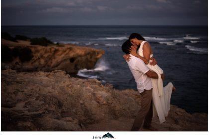 Kauai wedding and engagement photographer at Shipwreck beach