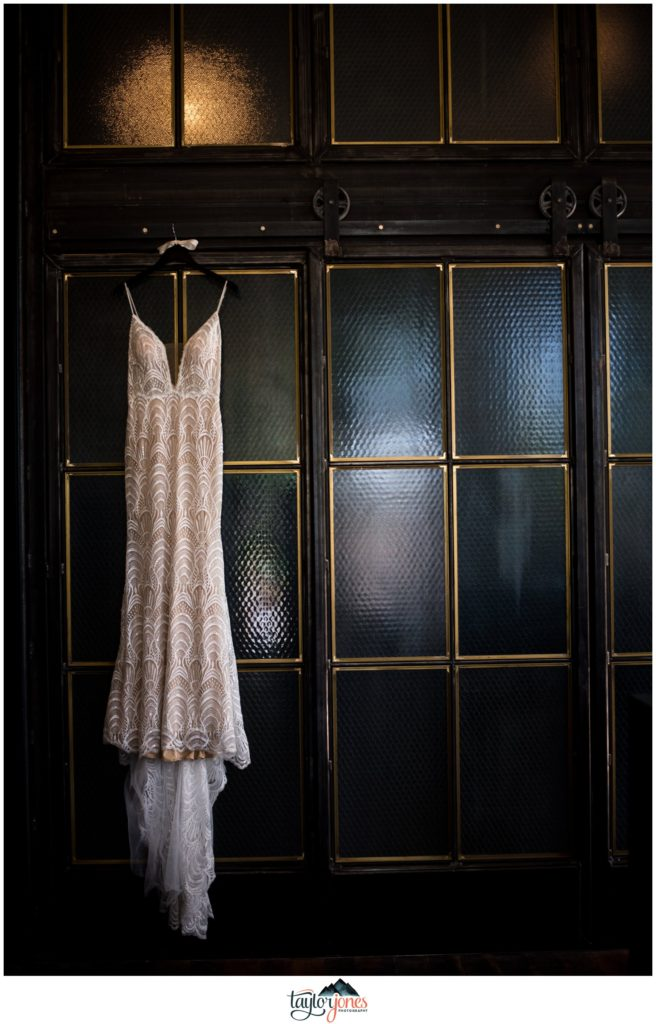 Surf Hotel Buena Vista Colorado wedding dress details