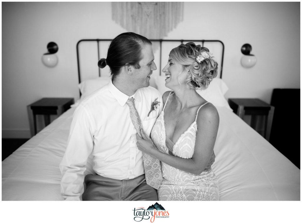 Surf Hotel Buena Vista Colorado wedding couple