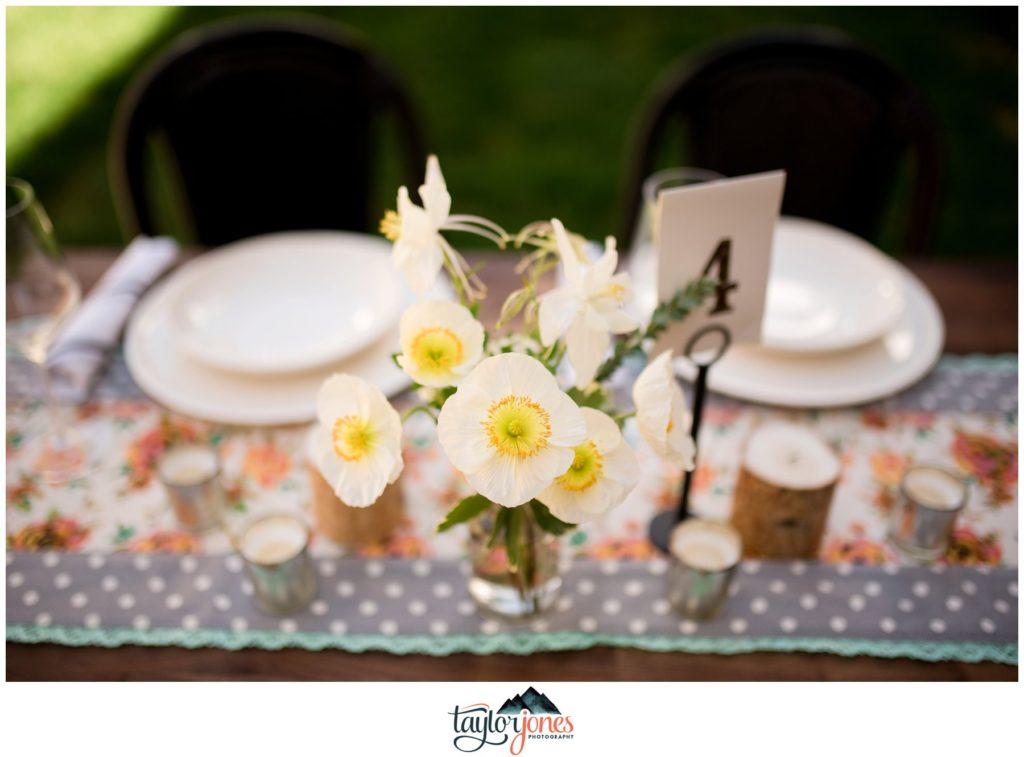 Surf Hotel Buena Vista Colorado wedding decor details