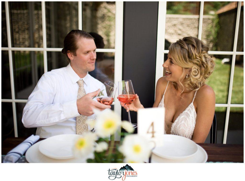 Surf Hotel Buena Vista Colorado wedding with drinks