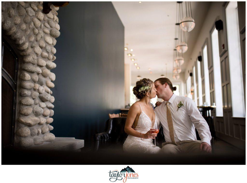 Wedding at the Surf Hotel Buena Vista Colorado bride and groom