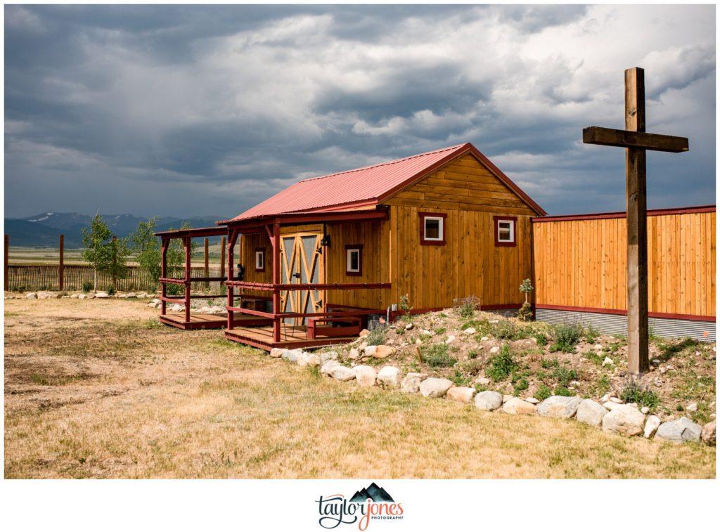 Guyton Ranch wedding ceremony Jefferson Colorado