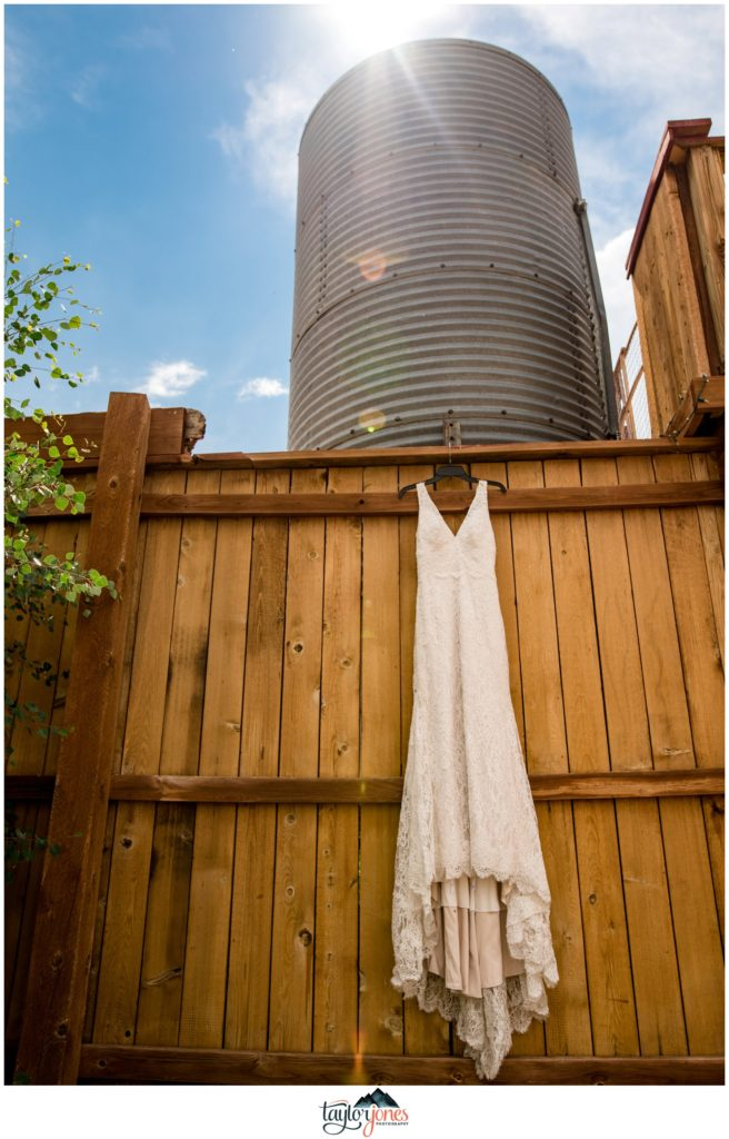 Guyton Ranch wedding dress in Jefferson Colorado