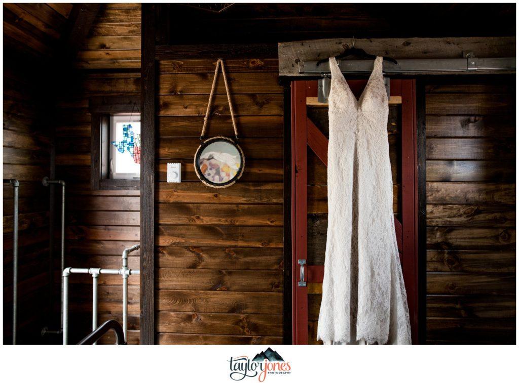Guyton Ranch wedding dress in AirBnB Jefferson Colorado