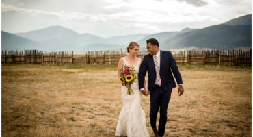 Guyton Ranch wedding bride and groom in Jefferson Colorado