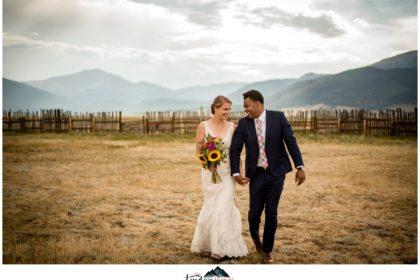 Guyton Ranch wedding bride and groom in Jefferson Colorado