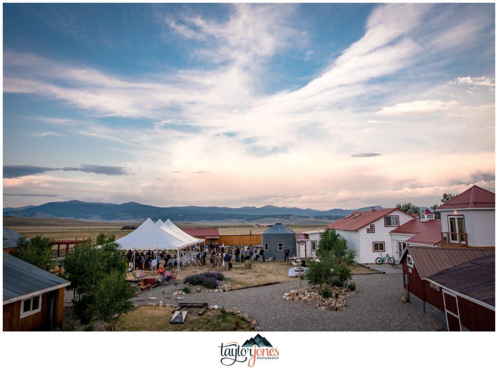 Reception at Guyton Ranch wedding in Jefferson Colorado
