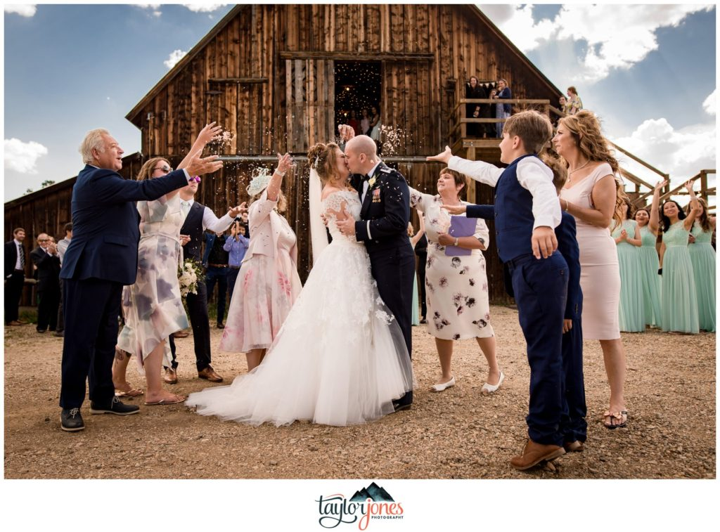 Winding River Ranch Wedding of Mike and Melissa wedding reception barn
