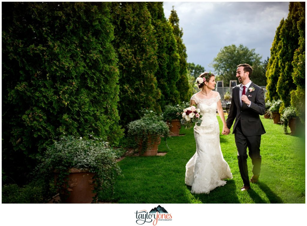 Denver Botanic Gardens wedding Luke and Annie bride and groom portraits
