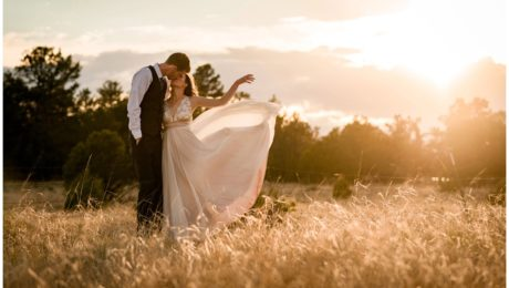 Eden West Ranch Wedding bride and groom portraits