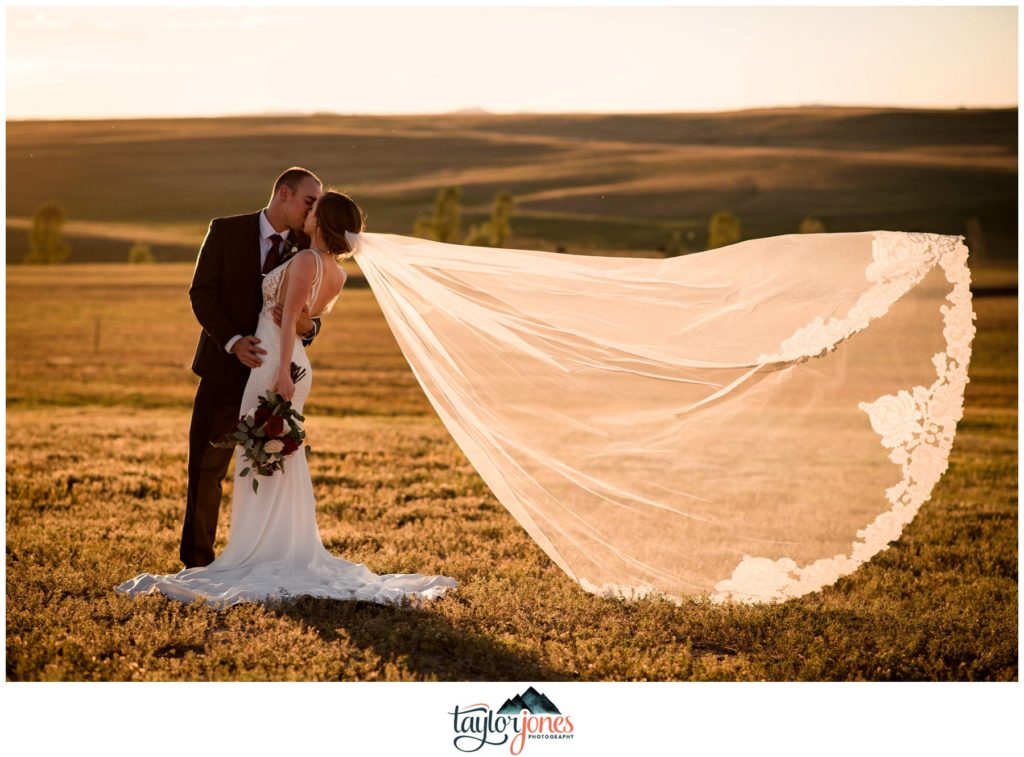 Flying Horse Ranch Wedding bride and groom portraits