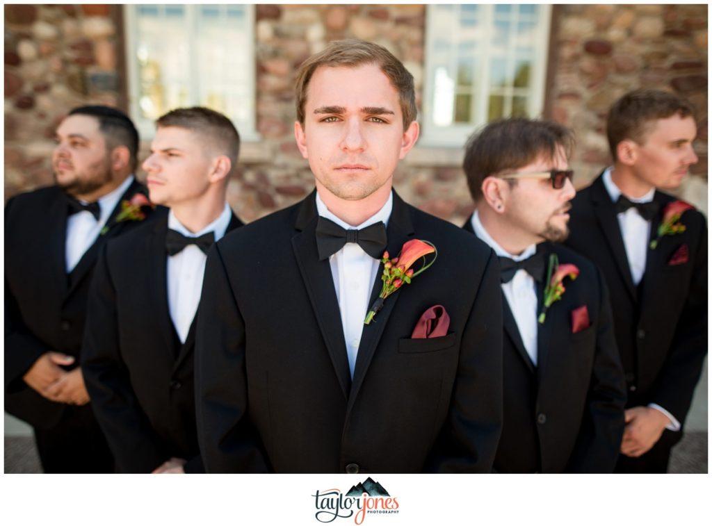 Highlands Ranch Mansion Wedding groomsmen portraits