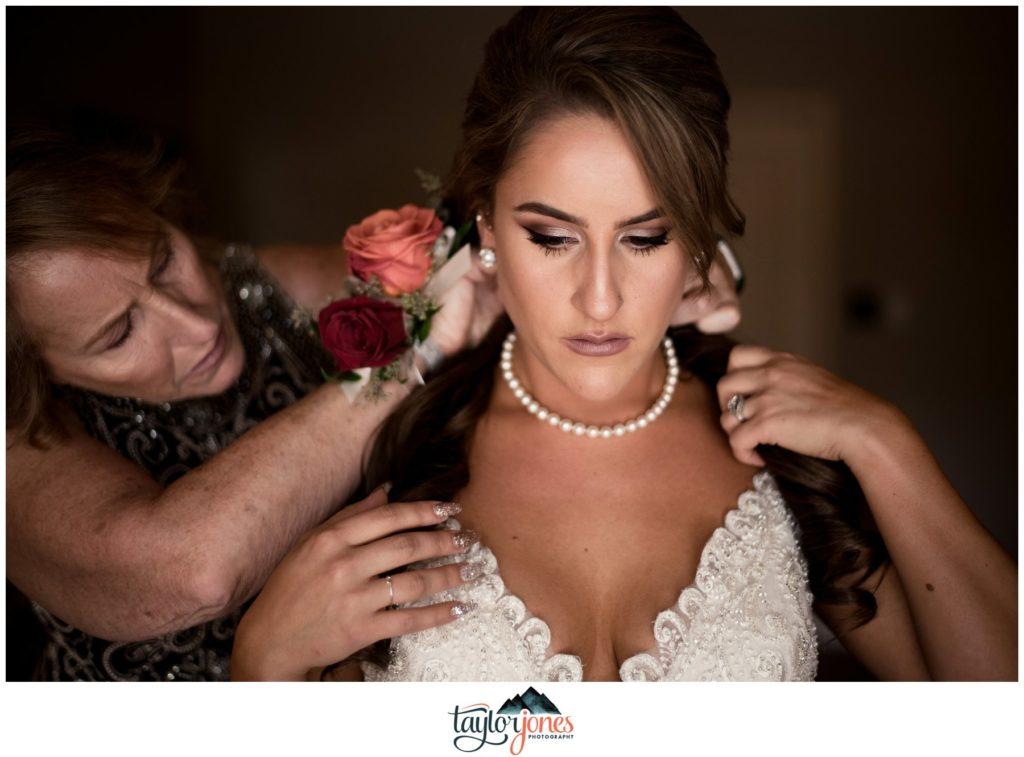 Highlands Ranch Mansion Wedding bride getting ready
