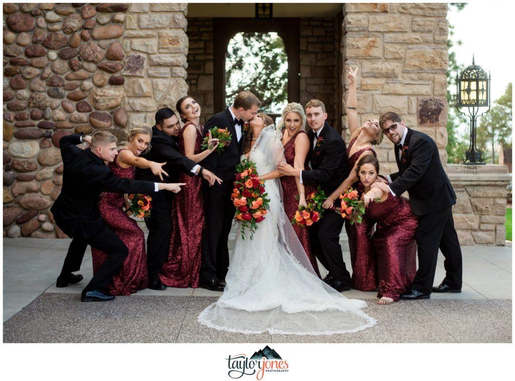 Highlands Ranch Mansion Wedding bridal party