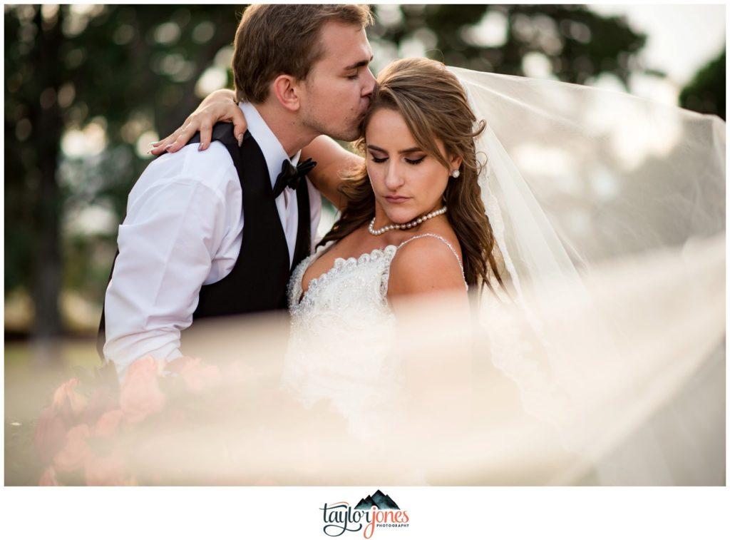 Highlands Ranch Mansion Wedding bride and groom portraits
