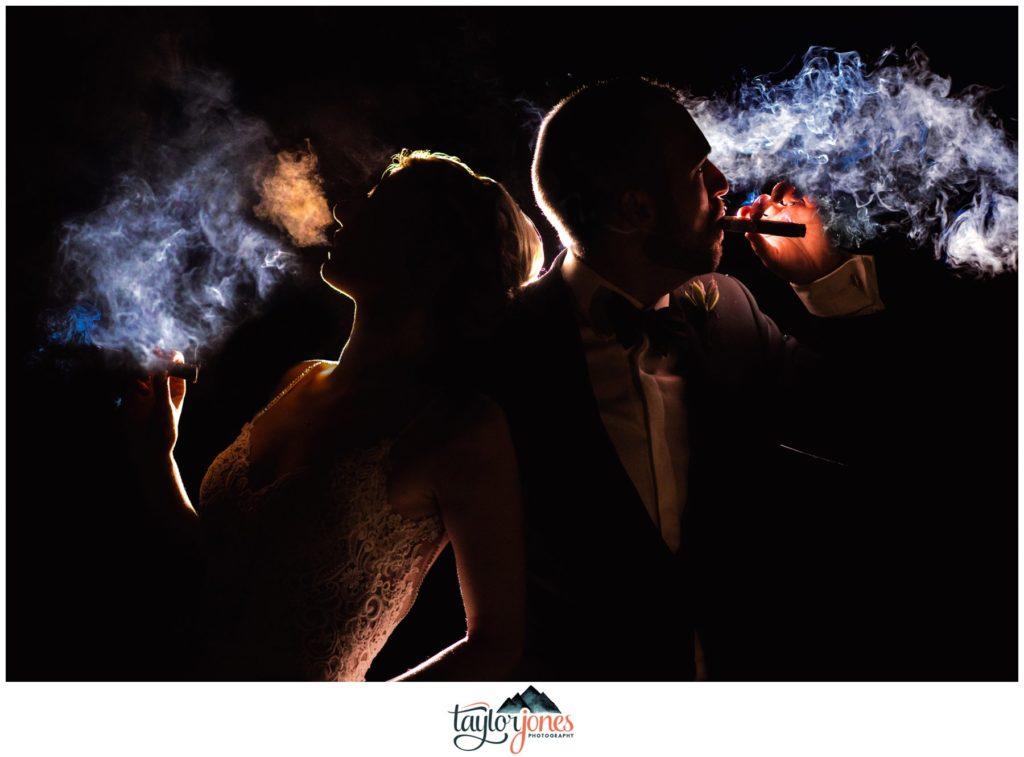 Arizona desert wedding with cigars and off camera flash magnet mod