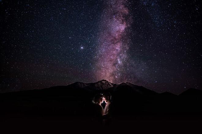 Buena Vista Colorado Galaxy Wedding Photo